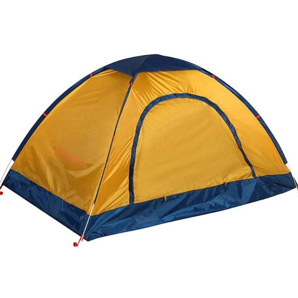 YaNanHome Imprägniern Zelt des Zeltes des Zeltes des Zeltes im Freien Zeltzelt des Zeltpaares mit 1-2 Leuten (Farbe : Gelb, Größe : 210  140  110cm)