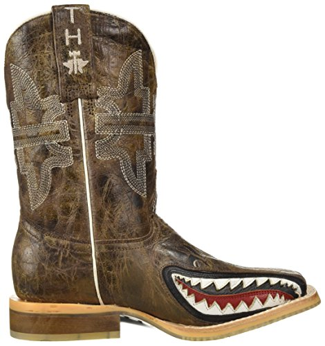 Pictures of Tin Haul Shoes Boys' Sharky Western Boot Tan 2 Medium US Little Kid 3