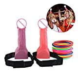 BeCol Toss Ring Game, Headband Head Hoopla Toss Game for Hen Stag Night Bachelorette Party Funny Games, Pack of 2
