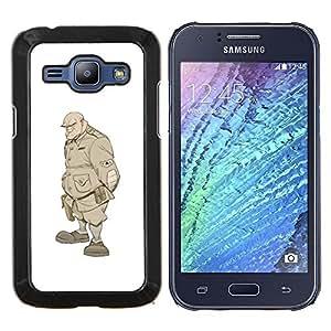 Dragon Case - FOR Samsung Galaxy J1 J100 J100H - solider monster undead warrior soldat - Caja protectora de pl??stico duro de la cubierta Dise?¡Ào Slim Fit
