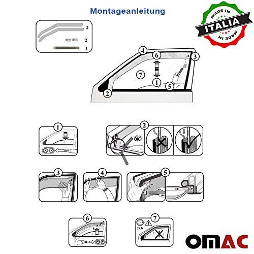 Omac GmbH Seat Ateca Windabweiser Regenabweiser 5 TRG 2 tlg Satz Vorne ab 2016
