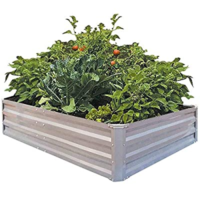 FOYUEE Metal Raised Garden Bed Boxes Elevated Raised Bed Garden Planter for Wonderful Growing in The Yard 18056