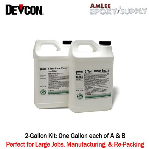 2 Ton Clear Epoxy - 10 minute work life waterproof 2ton clear by Devcon (Image #3)