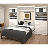 """Bestar Furniture 26886-17 Pur 136"""" Queen Wall Bed Kit Including Two Doors and Six Drawers with Simple Pulls in"""