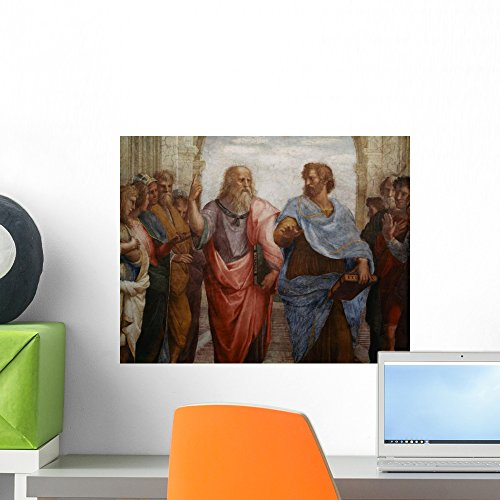 Wallmonkeys Plato and Aristotleby Raphael Wall Decal Peel and Stick Graphic WM184164 (18 in W x 14 in H) ()