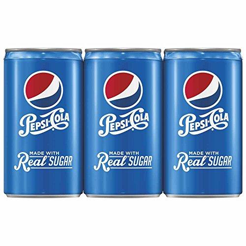 Pepsi Real Sugar Mini-Cans (6 Count, 7.5 Fl Oz Each)