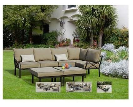 Amazon Com 7 Piece Outdoor Sofa Sectional Garden Outdoor