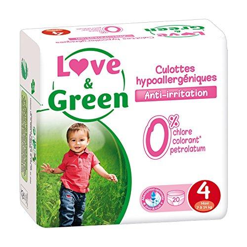 Culottes d'apprentissage jetables écologiques Love & Green Taille 4 MAXI 7-14kg 3700668700171