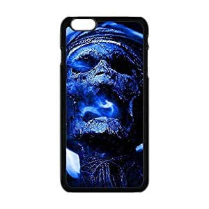 SKULL Blue Skull Custom Protective Hard Phone Cae For Iphone 6 Plus