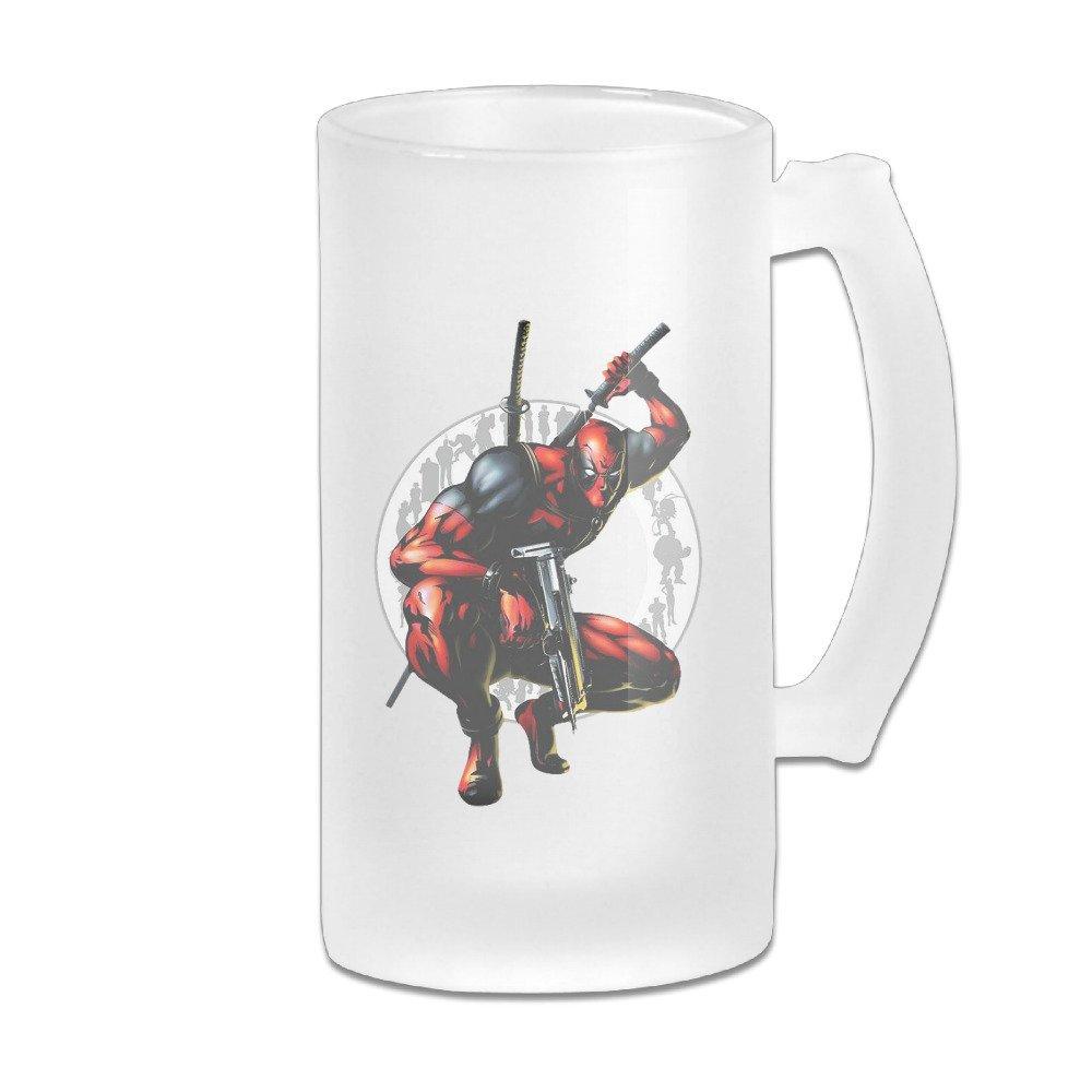 Acosoy Deadpool LOGO Scrub Beer Mugs/Beer Stein/Beer Tankard/Beer Glasses