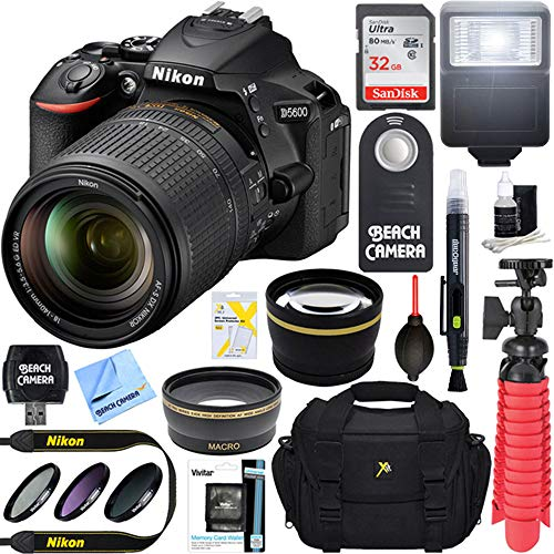 X-Format DSLR Camera + AF-S 18-140mm f/3.5-5.6G ED VR Lens + Accessory Bundle ()