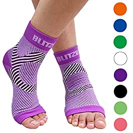 BLITZU Plantar Fasciitis Compression Socks For Women & Men – Best Ankle and Nano Sleeve For Everyday Use – Provides Foot…