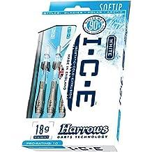 18g Soft Tip Harrows Ice Tundra Tungsten Darts Set