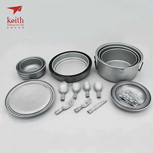 Keith Titanium Ti6201 22-Piece Dinnerware Set for 4
