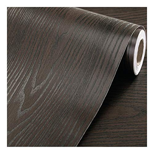 F&U Faux Wood Grain Contact Paper Self Adhesive Vinyl Shelf Liner Covering for Kitchen Countertop Cabinets Drawer Furniture Wall Decal (23.4