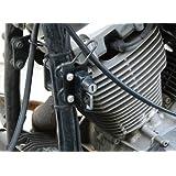 キジマ(Kijima) ヘルメットホルダーリロケーションステー ブラック YAMAHA:ドラックスター400/クラシック用 303-1516