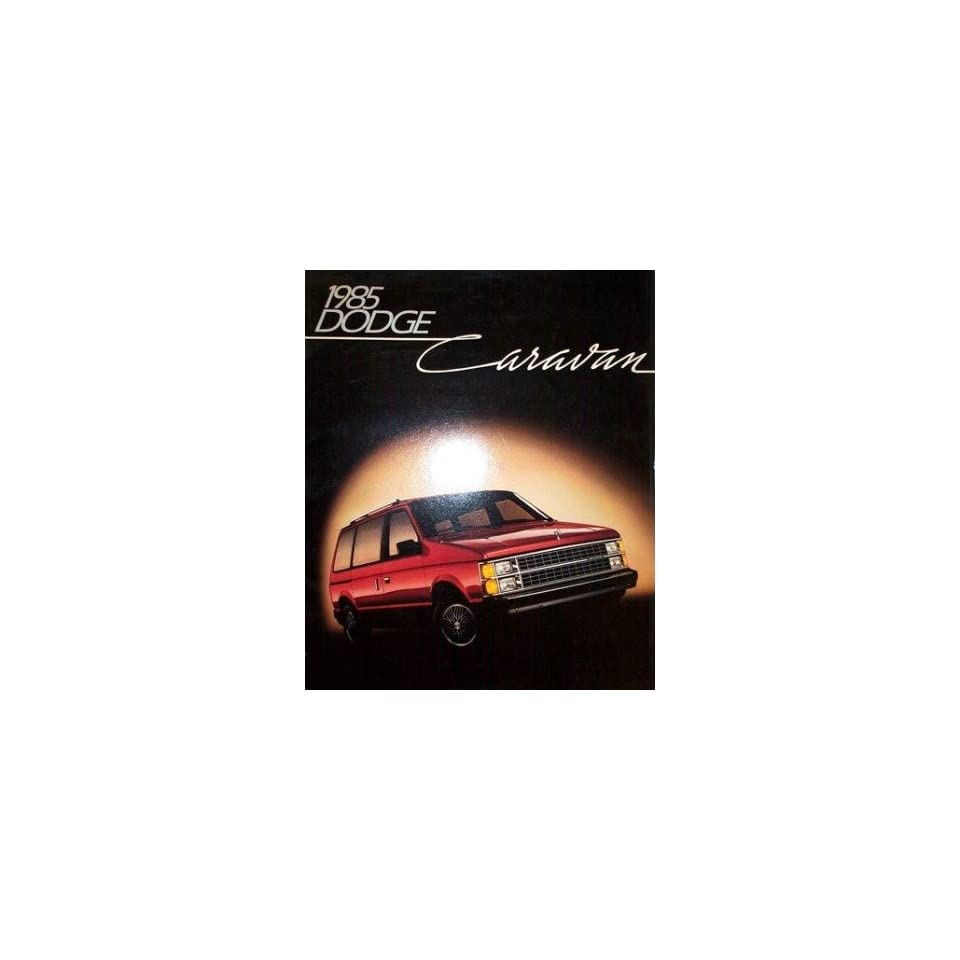 1985 Dodge Caravan Sales Brochure Literature Book Advertisement Options Specs