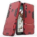 e2a41a87713 Funda para Xiaomi Redmi S2 (5,99 Pulgadas) 2 en 1 Híbrida Rugged Armor Case  Choque Absorción Protección Dual Layer Bumper Carcasa con pata de Cabra  (Rojo)