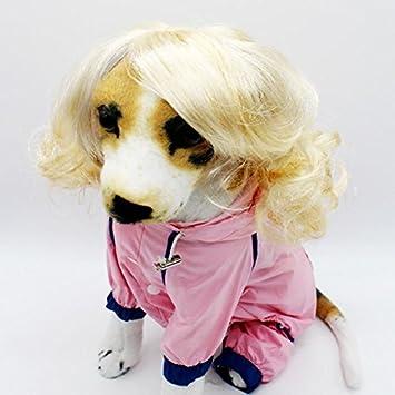 Disfraz de mascota de Skyoo, peluca para mascotas, ideal para fiestas o fiestas de