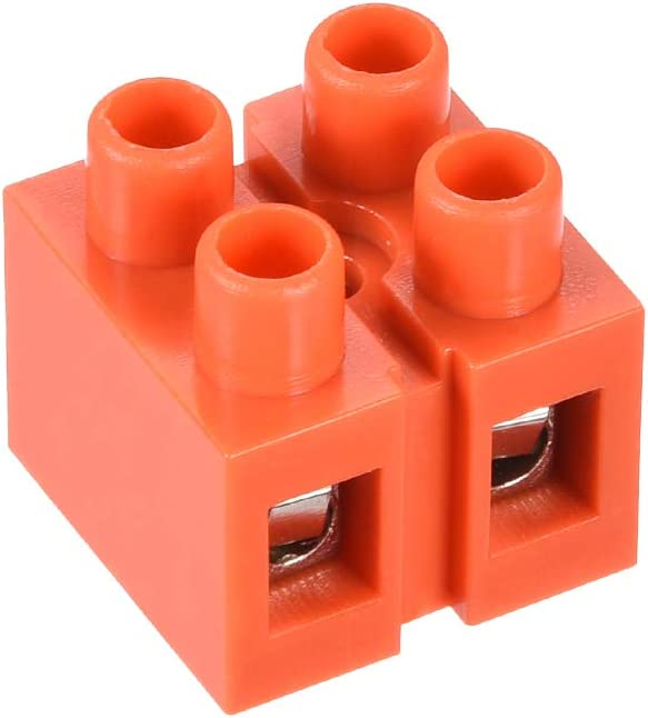 2 Pcs 600V 36A Dual Row 3 Positions Screw Terminal Electric Barrier Strip Block uxcell Terminal Block