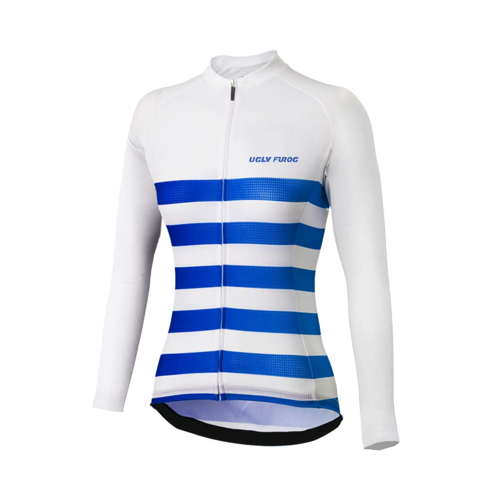 Uglyfrog Bike Wear Ropa Mujer Ciclismo Maillot Mangas Largas Camiseta de Ciclistas de Invierno Fleece Warm Clothing