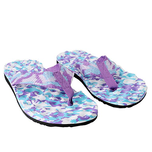 Femme Summer Beach 40 Camouflage Tongs Chaussures Intérieur Chaussons Purple Chausson ou JAGENIE extérieur Sandales Purple Camouflage FqBHTdFn