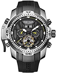 Reef Tiger Luminous Sport Steel Case Automatic Watch for Men RGA3532