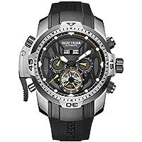 [Patrocinado] Reef Tigre luminoso deporte caso reloj automático de acero para hombres rga3532