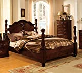 Best 247SHOPATHOME Kings Furniture King Size Beds - Tuscan Colonial Style Dark Pine Finish Eastern King Review