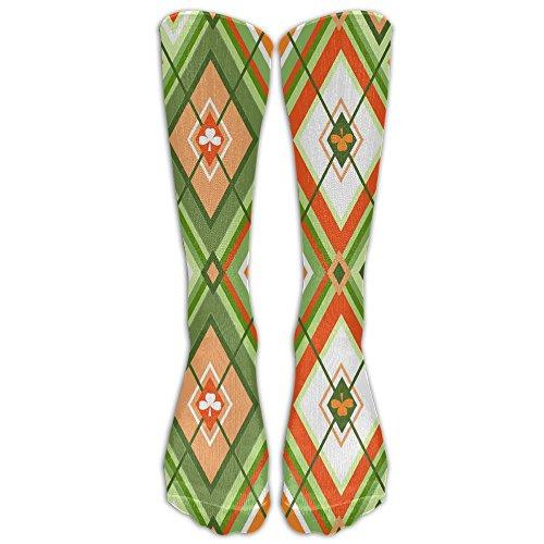 Rhombus Cloves Unisex Winter Athletic Stocking High Socks