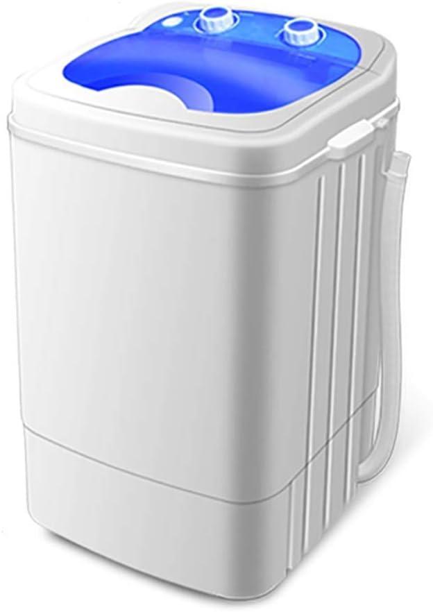Yyqtxyj Lavadora portátil, pequeño Semi-Compacto automático Lavadora, Incorporado en Azul Claro, con el Reloj Programador, Capacidad 6 kg (Color : Blue)