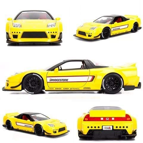 Jada 99480 2002 Honda NSX Type-R Japan Spec Yellow Widebody JDM Tuners 1/24 Diecast Model Car