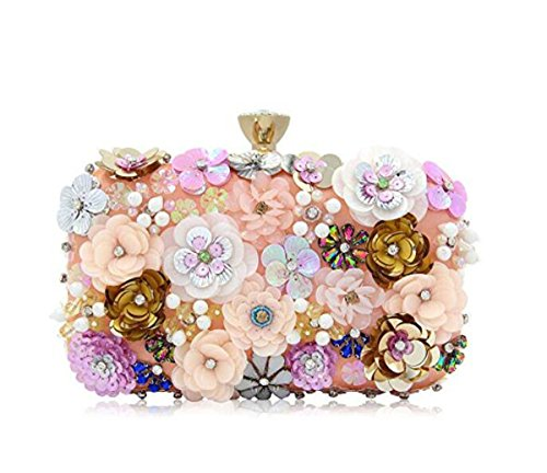 de mujeres colores bolsa embragues bolso embrague Las sat de flores noche de de noche de de vq8Ad