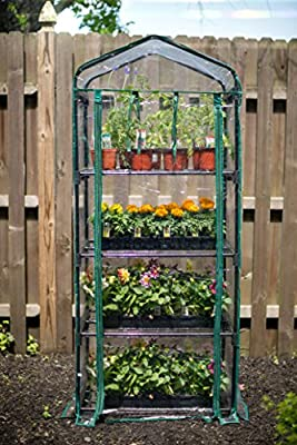 "Gardman R687 4-Tier Mini Greenhouse, 27"" Long x 18"" Wide x 63"" High by Gardman"