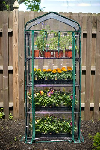 "Gardman R687 4-Tier Mini Greenhouse, 27"" Long x 18"