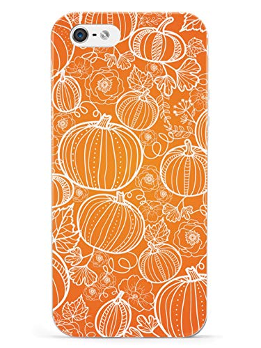 Inspired Cases - 3D Textured iPhone 5/5s/SE Case - Rubber Bumper Cover - Protective Phone Case for Apple iPhone 5/5s/SE - Pumpkin Patch