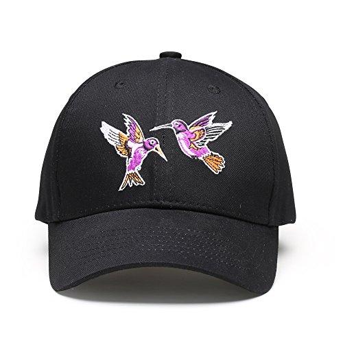 Men Women Adjustable Plain Baseball Cap - Classic Unstructured Cotton Hat Low Profile Embroidery Cap, Mandarin Ducks In The Water CM Black