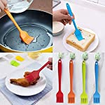 YuCool 5 Pack Silicone Basting Brush, Pastry&Basting Oil Brush with 2 Rest for BBQ,Turkey Baster,Cake,Barbecue Utensil,Grilling,Marinating-5 Colors 15 High Quality:Hygienic solid silicone with Steel Support inside, will not melt,warp,discolor,or shrink like plastic or wooden brushes. Package:You will get 5 silicone brush and 2 silicone spoon rest,It's very convenient for you to replace,elegant design for kitchen work. Color and Dimension:5 Colors (Black,Blue,Red,Green,Orange),Brush size:8.2in*1.3in;Spoon Rest size:7.9in*3.8in. These beautiful colors will let your kitchen light up soon,keep a colorful and nice kitchen.