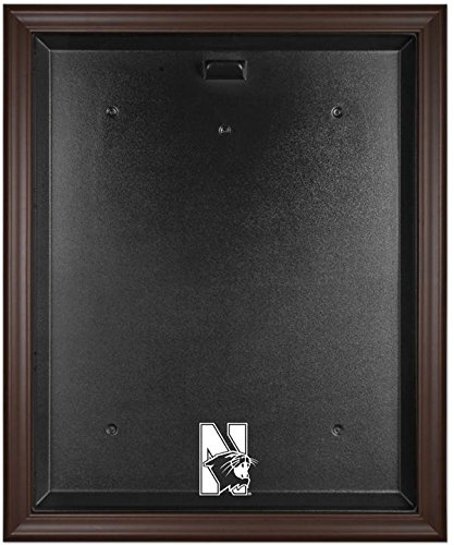 Northwestern Wildcats Brown Framed Logo Jersey Display Case by Sports Memorabilia