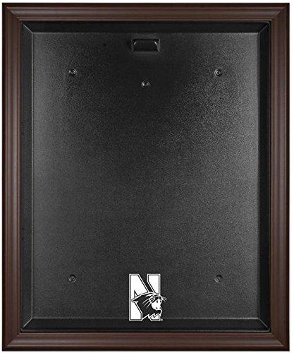 Northwestern Wildcats Brown Framed Logo Jersey Display Case by Sports Memorabilia