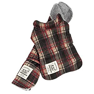 Touchdog ® 2-in-1 Tartan Plaided Dog Jacket with Matching Reversible Dog Mat, X-Small, Red Click on image for further info.