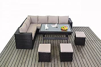kingston garden furniture corner sofa dining table set