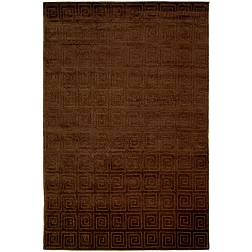 Safavieh Tibetan Collection TB108Y Hand-Knotted Chocolate Wool Area Rug (6' x 9')