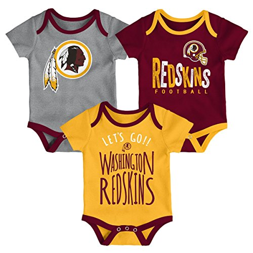 Outerstuff NFL NFL Washington Redskins Newborn & Infant Little Tailgater Short Sleeve Bodysuit Set Burgundy, 12 Months