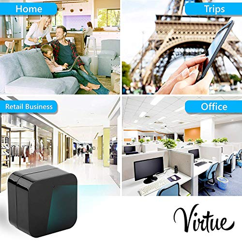 Mini Wi-Fi Hidden Camera-Wireless USB Camera Charger-Security Spy Camera Monitor System for Home 1080p-Motion Detection-Remote Viewing-Camera Kit with 32 GB Micro SD Card (Support 128 GB) by Virtue