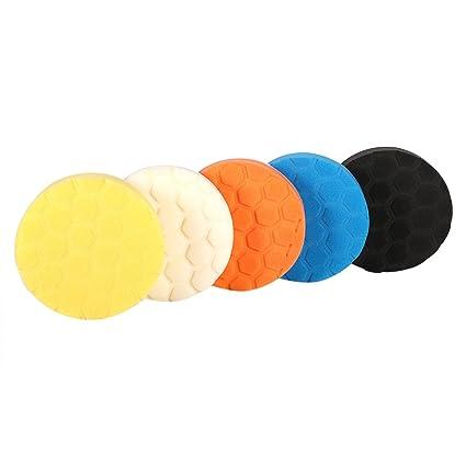 5Pcs 4//5 Sponge Polishing Waxing Buffing Foam Pads Kit for Auto Car Furniture
