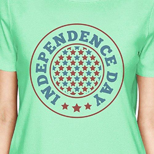 manga corta 365 Camiseta de D estampada mujer para pwtxagnq