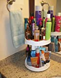"""Cosmetic or Makeup Organizer """"White"""" That Spins for Easy Access to All Your Beauty Essentials, No More Clutter! Only Requires 12"""" of Space on Counter & Holds Taller Bottles.. Proudly Made in the USA! by"""