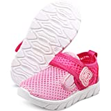 DADAWEN Baby's Boy's Girl's Water Shoes Lightweight Breathable Mesh Running Sneakers Sandals Pink US Size 10 M Toddler