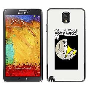 Stuss Case / Funda Carcasa protectora - Hole Spy Comic Cartoon Art Face Quote Man - Samsung Note 3 N9000 N9002 N9005